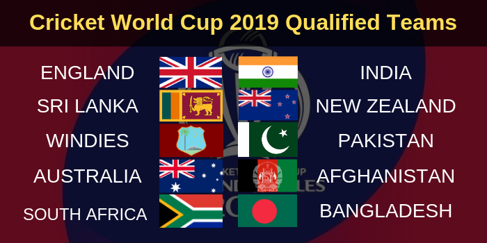 ICC Cricket World Cup 2019 TeamsICC Cricket World Cup 2019 Teams