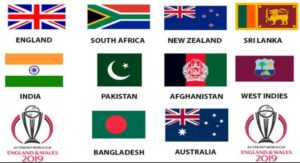 ICC cricket world cup 2019 Teams