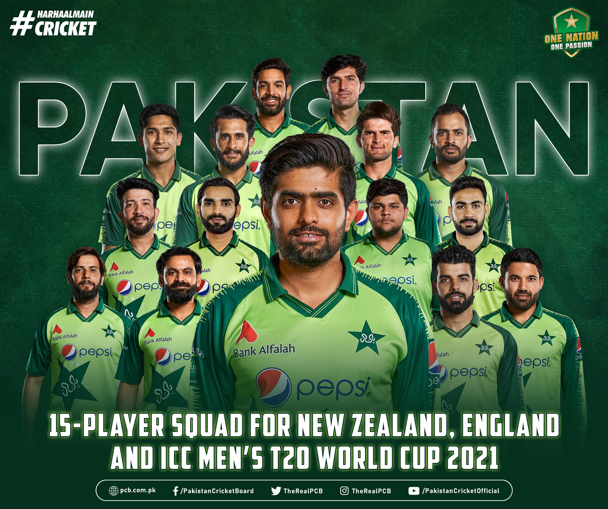 Men's T20 World Cup 2021 Pakistan Team Squad, Players List, Playing 11