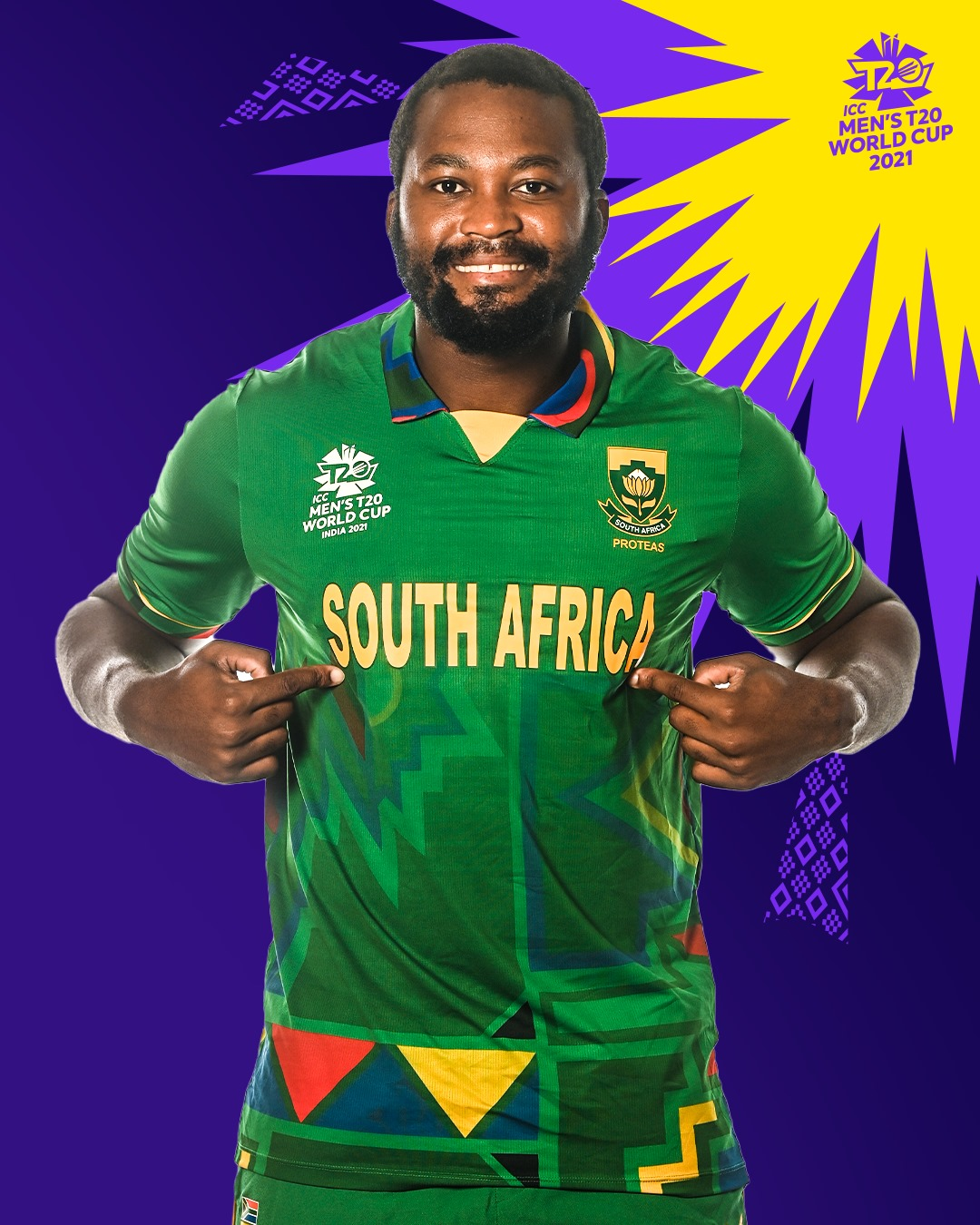 South African Team Jersey for T20 World Cup 2021