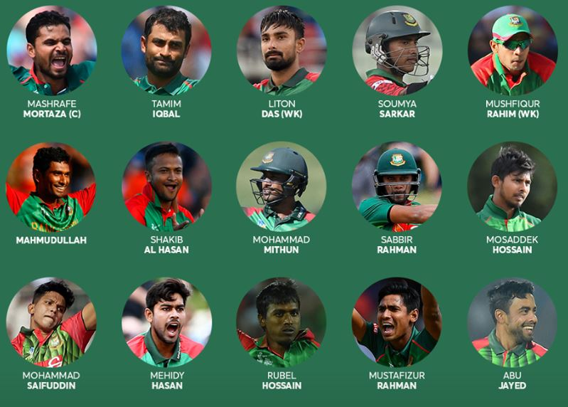 bangladesh squad for cricket world cup 2019