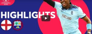 England vs West Indies Highlights & Scorecard Cricket World Cup 2019