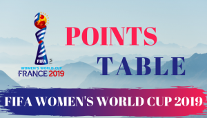 FIFA Women's World Cup 2019 Points Table Team Standings Team Rankings