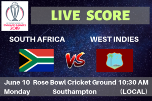 South Africa vs West Indies Live Streaming & Live Score ICC Cricket World Cup 2019