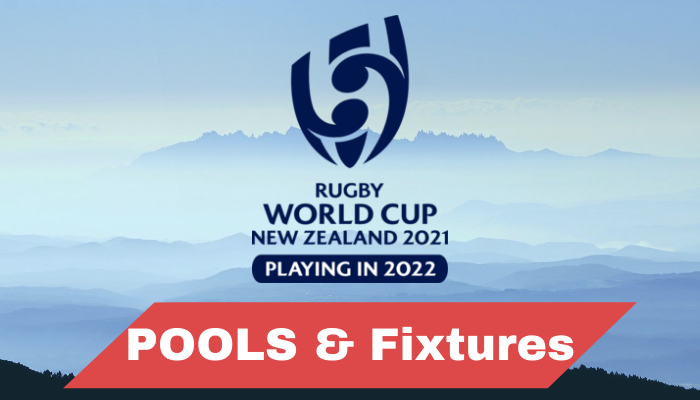 Rugby world cup 2022 Pools and Groups