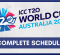 ICC Men's T20 Cricket World Cup 2020 Schedule PDF Download [CONFIRMED]
