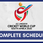 ICC Under-19 Cricket World Cup 2020 Schedule [UPDATED] - U19 WC Fixtures