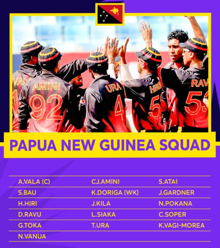 Papua New Guinea players list for 2021 T20 World Cup